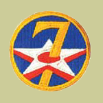 7th Army Air Forces WW2 Patch